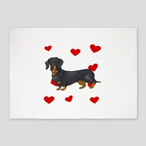 Dachshund Love 5'x7'Area Rug